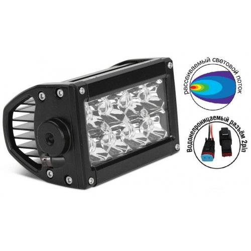 AVS Light FL-1610 (24W) фара + провода WR-01